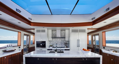 Hatteras M90 Panacera Galley